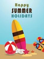 vector zomertijd vakantie vakanties en achtergrond