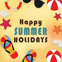 vectorillustratie van zomervakantie achtergrond vector