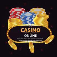 casino gratis spin met speelkaarten poker vector