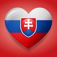 hart met Slowakije vlag symbool illustratie vector