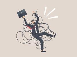 stress, angst door werkmoeilijkheden en overbelasting vector