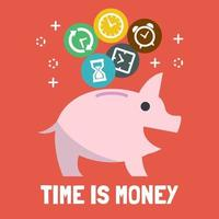 tijd is geld vector
