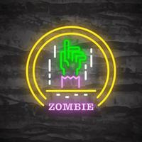 zombie halloween nacht neon logo