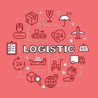 logistieke minimale overzichtspictogrammen vector