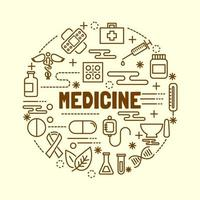 medische minimale dunne lijn iconen set