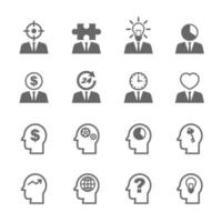 bedrijfsidee pictogrammen vector