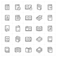boek lijn pictogrammen. vectorillustratie op witte achtergrond. vector