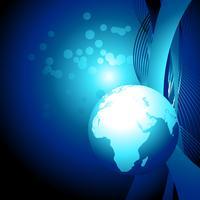 vector blauwe aarde