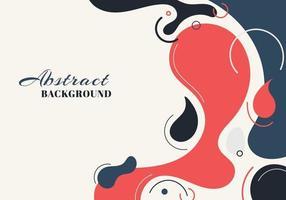 abstracte achtergrond vloeibare organische vormen dynamische golven en cirkels, lijnen op witte achtergrond. vector