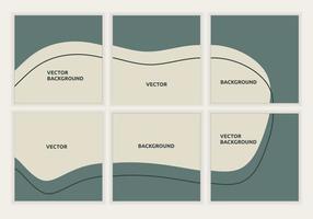 verzameling van social media feed posts-sjabloon met eenvoudig abstract ontwerp. minimalistische ontwerplay-out voor postpromotie op sociale media. perfect voor zakelijke advertenties. vector illustratie