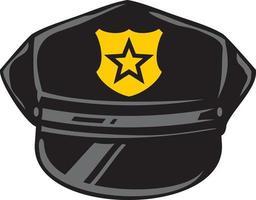 politie hoed vectorillustratie