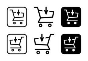 koop pictogram ontwerpset gratis vector