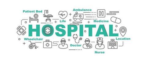 ziekenhuis vector banner