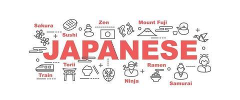 Japanse vector banner