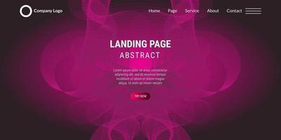 moderne abstracte roze gradiënt golvende lijn achtergrond vector