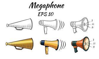 illustratie van een megafoon, luide spreker. vector