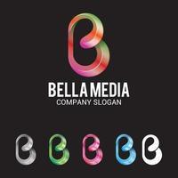 media logo vector ontwerpsjabloon