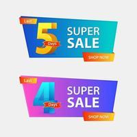 super verkoop bannerontwerp vector
