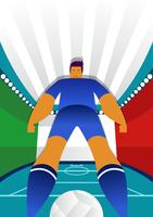 Italië Wereldbeker Voetbal Spelers Vector Illustratie