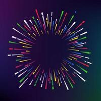 abstract kleurenvuurwerk op donkere achtergrond. vector frame voor een tekst