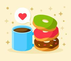 Donuts vectorillustratie vector