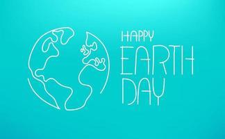 gelukkige aarde dag vectorillustratie. lineaire vectorillustratie vector