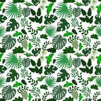 naadloze patroon van verschillende bladeren. sjabloon voor het maken van achtergronden, achtergronden, inpakpapier, kleding. vector