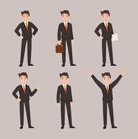 zakenman karakter vormen vlakke afbeelding instellen vector