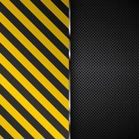 Metaalachtergrond met gele en zwarte strepen vector