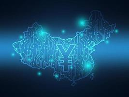 Chinese yuan digitale valuta bankieren, crypto vector