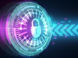 cyber security concept technologie hi-tech achtergrond vector