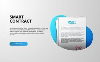 smart contract bestand document bestemmingspagina