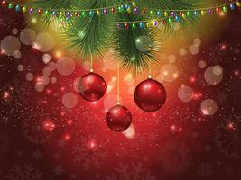Kerstbal achtergrond 2 1610 vector