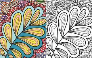 doodle zentangle kleurboekpagina voor volwassenen en kinderen. wit en zwart rond decoratief. vector