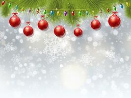 Kerstbal achtergrond vector