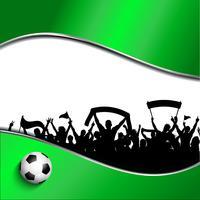 Voetbal of voetbal menigte achtergrond