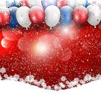 Kerst ballonnen achtergrond