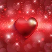 Valentines hart achtergrond vector