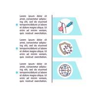 stimuleren vaccinatie uitrol concept lijn pictogrammen met tekst vector