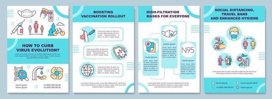 het beteugelen van virusevolutie brochuremalplaatje
