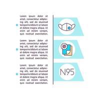 hoge filtratie maskers concept lijn pictogrammen met tekst vector