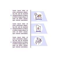 ernstige gezondheidseffecten concept lijn pictogrammen met tekst vector