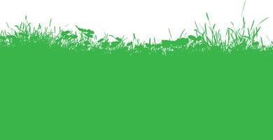 Met gras begroeid landschap vector