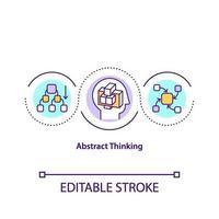 abstract denken concept pictogram vector