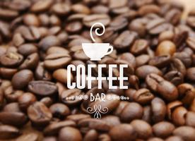 Koffieboon achtergrond vector