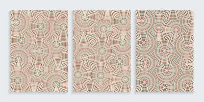 abstracte achtergrond naadloze patroon met kleurrijke cirkel vector