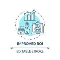 verbeterd roi-conceptpictogram vector