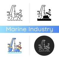 mariene berging pictogram vector
