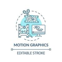 motion graphics concept pictogram vector