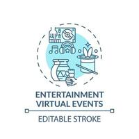 entertainment virtuele evenementen concept pictogram vector